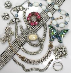 Superb Vintage 1940s/50s Glitzy Costume Jewelry Lot incl Weiss Trifari Panetta in Jewelry & Watches, Vintage & Antique Jewelry, Costume, Retro, Vintage 1930s-1980s, Collections, Lots   eBay