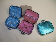Suitcases from a candy tin box by Raija Bee