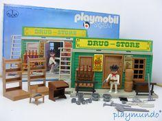PLAYMOBIL OESTE WESTERN DRUG STORE REF. 3424 (AÑO 1976)