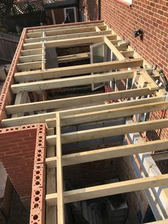 Structure work for GRP flat roof. House Extension Design, Roof Extension, Wraparound Extension, Fibreglass Flat Roof, Orangery Roof, Orangery Conservatory, Flat Roof Construction, Flat Roof Skylights, Roof Lantern