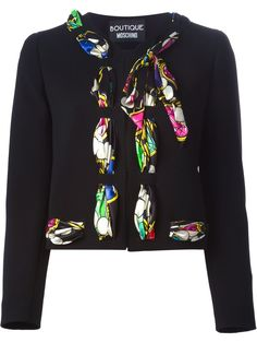 BOUTIQUE MOSCHINO  printed scarf detail jacket