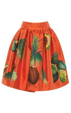 Arnica Embellished Hand Painted Skirt by Stella Jean - Moda Operandi