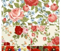 Seamless floral backgrounds vector 2