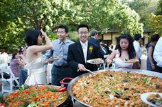 hakone gardens wedding photography paella