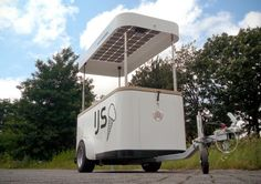 Sustainable ice-cream cart - Ice Cream Cart Keeps Things Cold with Solar Power