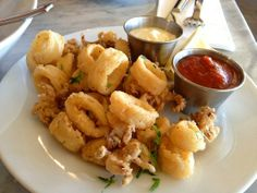 Fried Calamari Fritti with Smoked Jalapeno Aioli Sauce  Tyler Florence Food Network. Photo source: Yelp.com