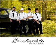 Real Wedding Paris Mountain Photography groomsmen wedding group photos Hightower Falls GA gangster theme