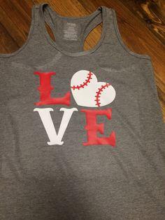 Love Baseball tank dri-fit by Wrenspirations on Etsy