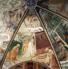 Masolino da Panicale - Vaulting (detail), c. 1435, Fresco, Collegiata, Castiglione Olona