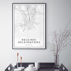 PÅSTER Helsinki Juliste - valkoinen | Nougat