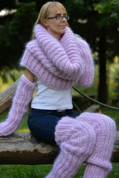 Luv Mohair Sweater, Pink Sweater, Sweater Outfits, Angora, Sweater Weather, Cowl Neck, Arm Warmers, Knitwear, Cashmere
