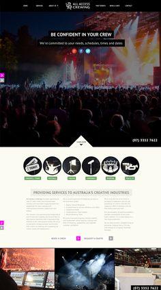 All Access Crewing responsive website