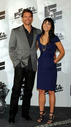 Paul Walker with his Fast & Furious co-star Jordana Brewster at the Fast & Furious 4 Madrid photocall in 2009.