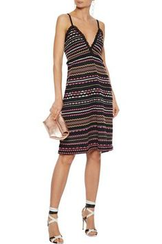 M Missoni Ruffle-trimmed Striped Crochet-knit Dress In Black Striped Dress, Dress Black, Dress Outfits, Dresses, Ruffle Trim, Missoni, World Of Fashion, Knit Dress, Your Style