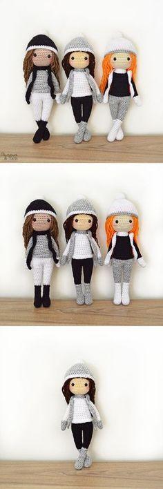 Crochet Pattern - Sarah the Winter Doll - Amigurumi #amigurumi #amigurumiaddict #amigurumipattern #crochet #ilovecrochet #handmade #diy #knitting #ad #handmadedoll #dollmaking