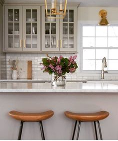 Griege and white kitchen