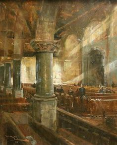 """Roger Dale Brown, """"Sanctuary""""  Oil   30x24"""