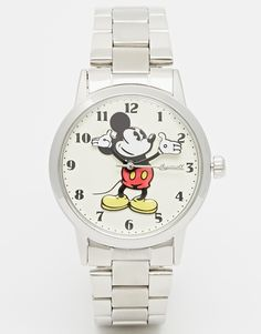 Disney+Silver+Classic+Mickey+Mouse+Watch