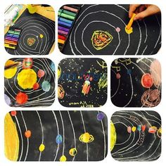 Our Solar System! My students had fun drawing these today!