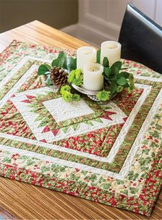 Christmastide Table Topper - Quilting Digest