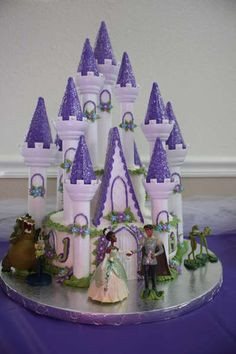 look at this sweet Princess and the Frog castle cake!