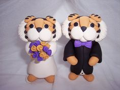 Wedding Cake Topper Louisiana State the bride lion shouldnt have a mane but we'll work on that.