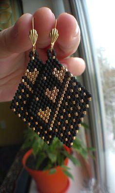 Perles Boucles doreilles la Saint-Valentin or 24 par NadiaDedovets