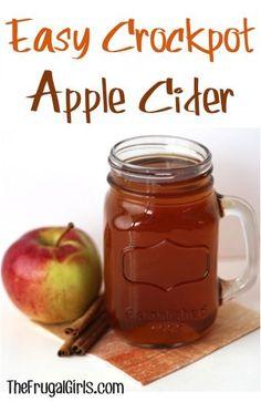 Crockpot Apple Cider Recipe at TheFrugalGirls.com