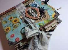 Denise Johnson used our new Mixed Media Album, Antique Brass Door Knocker, and Time to Flourish to make this gorgeous journal for the upcoming New Year. #graphic45 #sneakpeeks #CHA2015