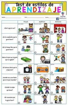 Educación Elementary Spanish, Teaching Spanish, Elementary Schools, Spanish Lesson Plans, Spanish Lessons, Cooperative Learning, Kids Learning, Kindergarten Activities, Educational Activities