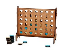 A personalized Connect Four that they'll heart forever and ever.