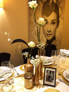 Centros de mesa de la Party negro/oro 50th Anniversary, Decoration, Ideas Para, Landscape Design, Blue Green, Party, Color Dorado, Iglesias, Wedding Ideas