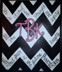 Canvas sign with bible verse chevron