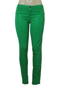 BLEULAB Women's Skinny Jeans Detour Legging Jeggings Electric Green Leather Coat #Bleulab #SlimSkinny