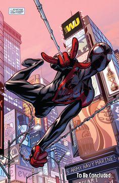 Spider-Man in Ultimate End #4 (2015) - Mark Bagley, Inks: Scott Hanna, Colors: Justin Ponsor
