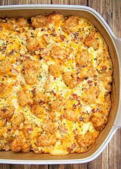 """""""Cracked Out"""" Chicken Tater Tot Casserole - Chicken, cheddar, bacon, ranch and tater tots.You can make it ahead of time and refrigerate it or even freeze it for later. I usually bake half and freeze half in a foil pan for a later. Tater Tot Casserole, Casserole Dishes, Buffalo Chicken Casserole, Main Dish Casserole Recipes, Easy Chicken Casserole, Tater Tot Bake, Casserole To Freeze, Cowboy Casserole, Hotdish Recipes"""