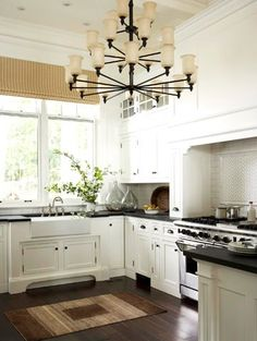 A Deep Farmhouse Sink And Furniture Style Cabinetry Set The Tone For This Timeless Kitchen