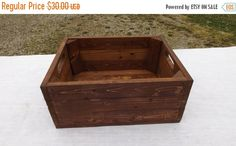 On Sale Storage Crate From Reclaimed Wood English por phyllissexton