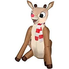 Airblown Rudolph the Red Nosed Reindeer Inflatable Lawn Christmas Decoration Decorate your lawn this Christmas with this Outdoor Inflatable Airblown Rudolph the Red Nosed Reindeer. Rudolph is the perfect addition to your Christmas classics collection! Outdoor Christmas Reindeer, Rudolph Christmas, Christmas Yard, Christmas Ideas, Inflatable Christmas Decorations, Christmas Inflatables, Reindeer Decorations, Outdoor Decorations, Beautiful Christmas Decorations