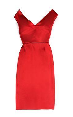 Preorder Jonathan Saunders Auste Bonded Jersey Bustier Dress