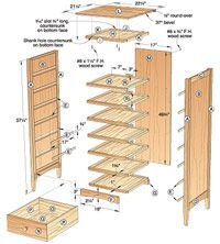 7-Drawer Lingerie Chest Woodworking Plan