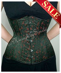Black/Red Brocade Floral Waist Training Corset NS-158BRSale