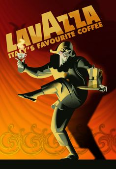 Lavazza: Italy's Favourite, Robert Rodriguez   Vintage Lavazza Coffee Poster