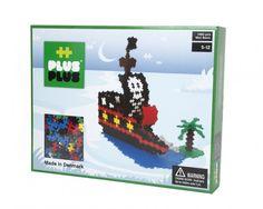 Rockin Girl Plus-Plus Mini Piece Pirate Ship Building Block - 1060 Piece Mini, Simple Shapes, Toy Sale, Denmark, Pirates, 3 D, Mosaic, Barn, Thankful