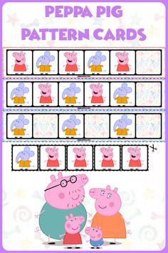 FREE   Teach basic AB patterns with these Peppa Pig fill in the pattern cards! Super quick prep! #mathcenters #math #preschool #preschoolers #preschoolactivities #kindergarten #Homeschooling #teacherspayteachers #peppapig