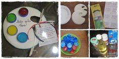 Xειροποίητες νερομπογιές. Handmade νερομπογιές σε παλέτες από ανακυκλώσιμα υλικά για δωράκι την πρώτη μέρα στο σχολείο αλλά & σε παιδικά πάρτι γενεθλίων.