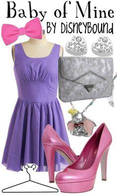 Disney Bound - Baby of Mine (Dumbo) Disney Themed Outfits, Disney Bound Outfits, Mode Collage, Disney Inspired Fashion, Disney Fashion, Character Inspired Outfits, Disney Cosplay, Fandom Outfits, Princesas Disney