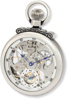 Charles-Hubert, Paris 3869-S Classic Collection Antiqued Finish Open Face Mechanical Pocket Watch *** Click on the image for additional details.