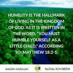 "Kingdom Living Now  Matthew 18:2-5  NKJV Then Jesus called a little child to Him, set him in the midst of them,  and said, ""Assuredly, I say to you, unless you are converted and become as little children, you will by no means enter the kingdom of heaven.  Therefore whoever humbles himself as this little child is the greatest in the kingdom of heaven.  Whoever receives one little child like this in My name receives Me.  2 Chronicles 7:14 NkJV If My people who are called by My name will humble…"