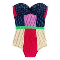 Retro swimsuit - love the colors